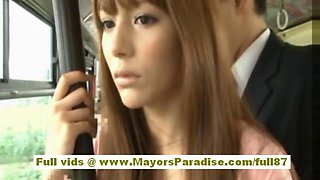 Rio asian teen babe getting her hairy pussy fondled on the bus film