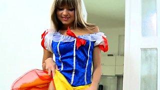 Lewd blonde young bombshell Gina gets nailed hard