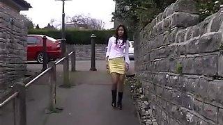 Exotic amateur Pissing, Public porn video