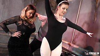 Maitresse Madeline Marlowe & Will Havoc & Penny Poison & Slave Fluffy in Ballet Teachers Gift - KINK