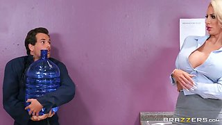 Tyler Nixon And Nicolette Shea In Blonde Boss Makes Love In The Office