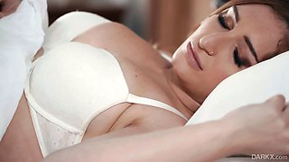Attractive nicely packed Skylar Snow gets rid of lingerie and gets poked