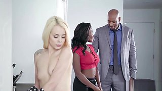 Elsa Jean And Osa Lovely In Cute Little Maid Tight