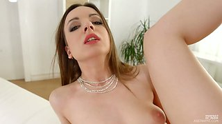 Amazing wild whore Lilit Sweet takes firm sloppy cock into her anus