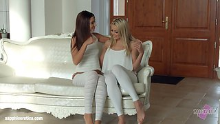 Book of 69 by Sapphic Erotica - lesbian love porn with Christen Courtney - Alexis Brill