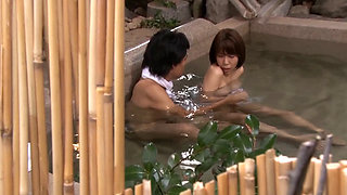 Asian Wife Fucked By Stranger In Japanese Onsen Spa