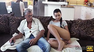 Daphne Klyde - Taboo Sex Of Old Guy And Sweet Brunette