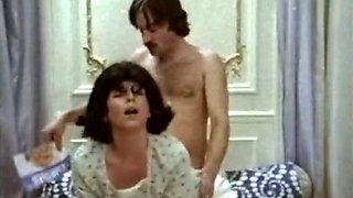 Horny brunette getting banged in vintage sex scene