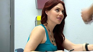 Slutty red haired teen fucked by her teacher