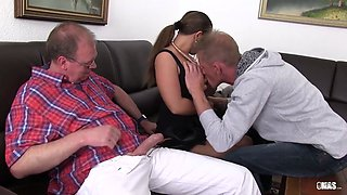XXXOmas - Sexy Susi in German threesome