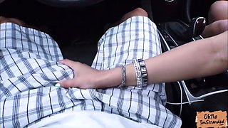 naughty kendall kross offers a blowjob for a free ride