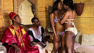 African masseuses grinding and fucking