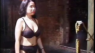 2 studs worship Oriental domme in Taiwanese restaurant basement