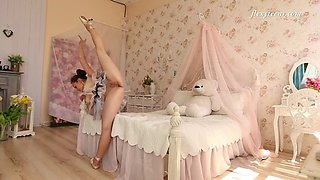 seductive nino belover practices ballet in her bedroom
