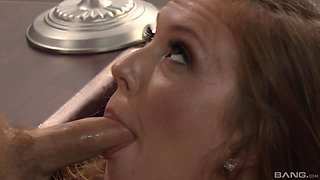 pretty Maddy O'Reilly adores hard sex with her boss in the office