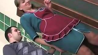 Guy fuck maid in the ass