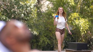 Nikole Nash is twerking her yummy ass in leopard print panties