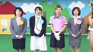 Horny Japanese slut Hiroko Okuno, Akiko Osawa, Hitomi Sudo in Crazy Blowjob, Glory Hole JAV movie