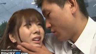 Jav busty milf in stockings fucked on a bus