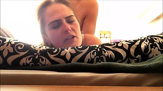 Horny amateur blonde gets drilled deep and rough from behind