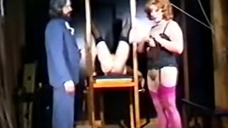 Vintage BDSM Movie with two hot slaves