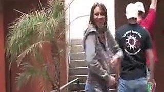 girlfriend flashing in public