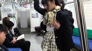 Japanese Subway Gangbang With Student Girl