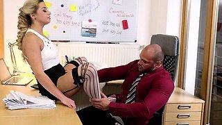 KINKY INLAWS - Stepdaughter and secretary in taboo threeway