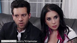 Horny Little Babysitter Auditions for Joanna Angel & BF