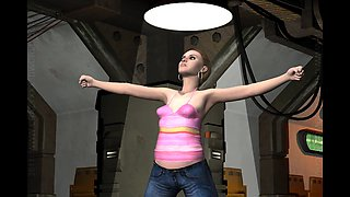 3D Animation. Alien Abduction 2