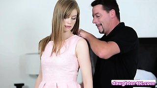 Step daughter Olly Eigh gets pounded in bedroom