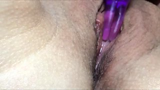 wife's clit massage, nasty grool and hard cum