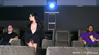 busty milf 69s in the movie theatre