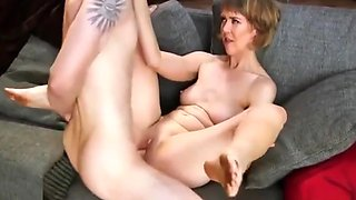 SBA Mom Likes To Spank Her Son So He Will Fuck Her And Cum !