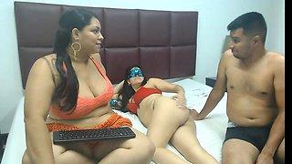Webcam big ass Latin woman dancing stripped