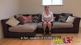 FakeAgentUK: Amateur British girl with huge tits gets multiple orgasms