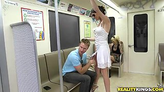 Milf Gets Fucked On The Subway