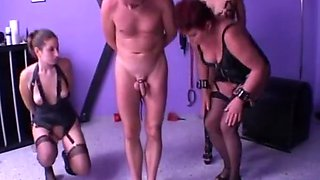 German domme abuses 3 slaves