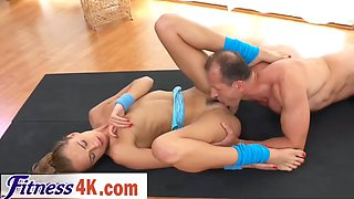 ivana sugar gets fucked by fitness trainer after stretching her body