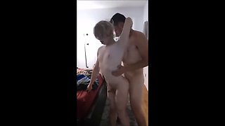 Cute Twink Gets Fucked While Standing