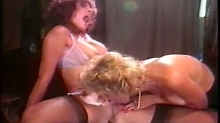 Two naughty vintage white ladies playing with each other