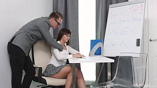 Katty Blessed adores having hard sex in the office after work