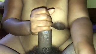 Sri Lankan Big Boob Milf Part 1 – Handjob and Cum on Boobs