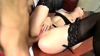 Blonde European Bride With Glasses Anal