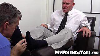 dev boss Dean loves students and fingers foot worship