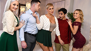 Ryan Keely & Ricky Spanish in Eating Out for Thanksgiving - BRAZZERS