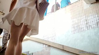 Sexy girl whith sporty ass upskirt view
