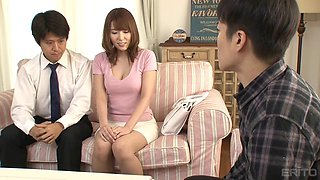 Yui Hatano seduced by a man for a great dick bouncing experience