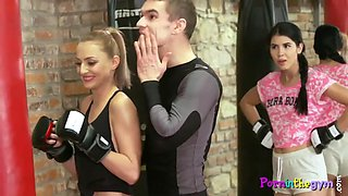workout babe pussylicked before blowjob