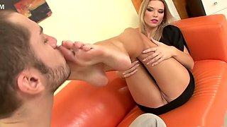Amazing pornstar in exotic foot fetish, blonde xxx movie